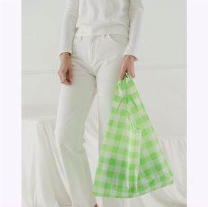 "Sac réutilisable ""Carreaux lime"""