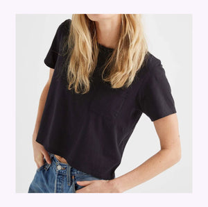 "Crop top ""Boxy"" noir"