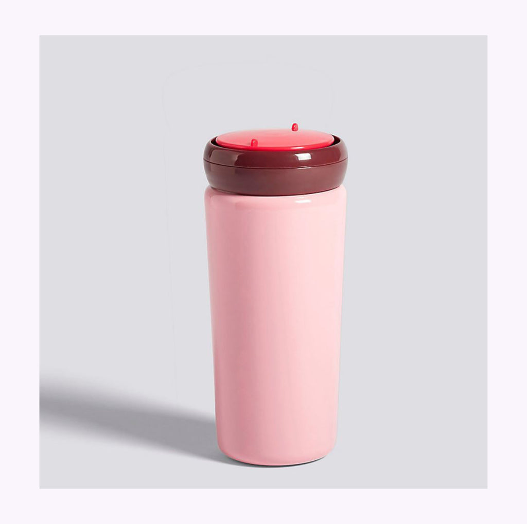 Tasse de transport rose (12 oz)