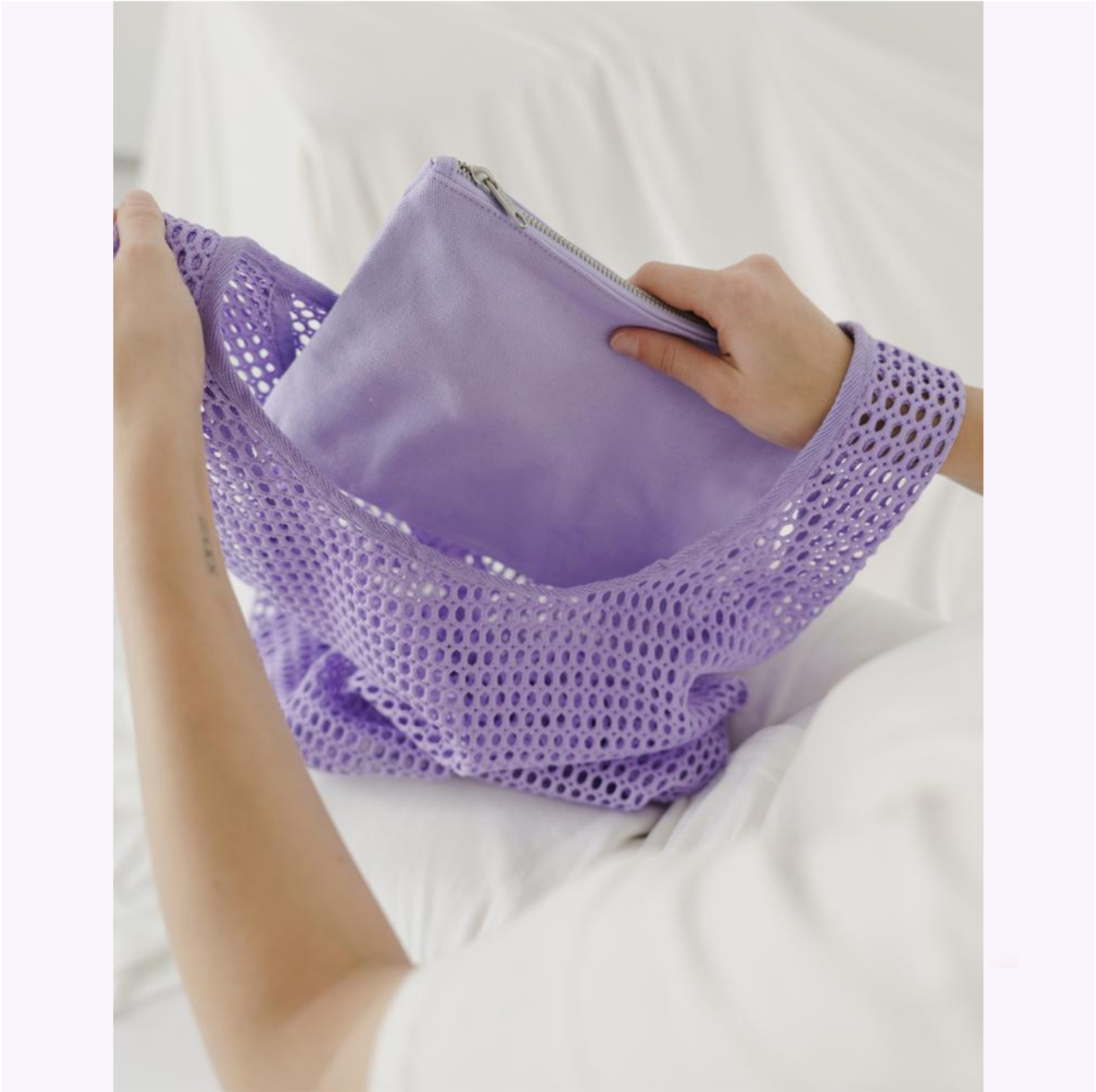 Sac filet lilas