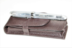 Platinum 3776 Century Nice Pur with Wancher leather case for two pens - PEN OPULENCE