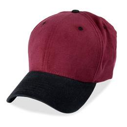 Burgundy with Black Visor - Structured Baseball Cap