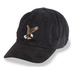 Black with Eagle Logo - Unstructured Baseball Cap