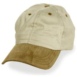 Cream with Brown Visor - Unstructured Baseball Cap