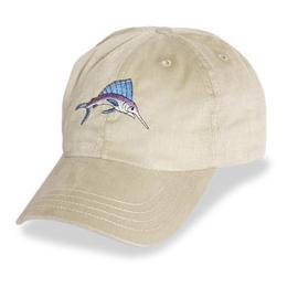 Cream with Marlin Logo - Unstructured Baseball Cap