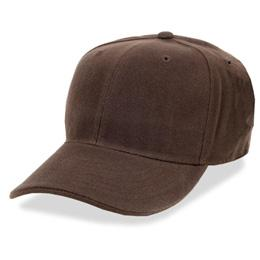 Brown - Structured and Fitted Baseball Cap