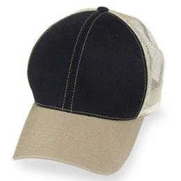 Black Mesh with Khaki Visor - Structured Baseball Cap