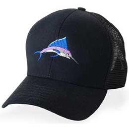 Black Mesh with Marlin Logo - Structured Baseball Cap