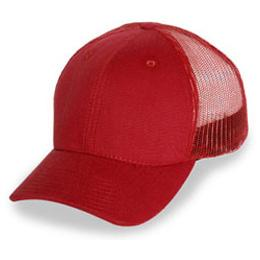 Cardinal Red Mesh - Structured Baseball Cap