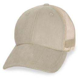 Cream Mesh with Long Visor - Structured Baseball Cap