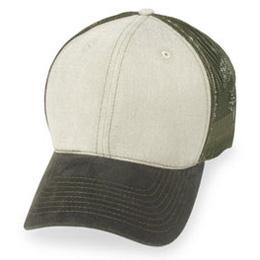 Cream Mesh with Olive Visor - Structured Baseball Cap