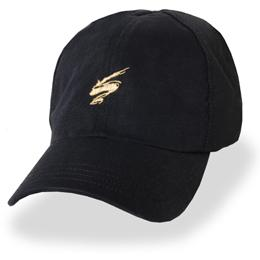 Black with Gold tornado Logo Partial Coolnit - Unstructured Baseball Cap