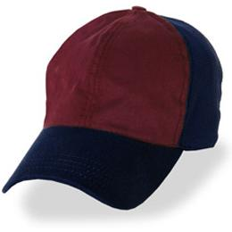Burgundy with Blue Partial Coolnit - Unstructured Baseball Cap