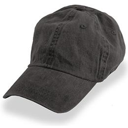 Black Weathered - Unstructured Baseball Cap