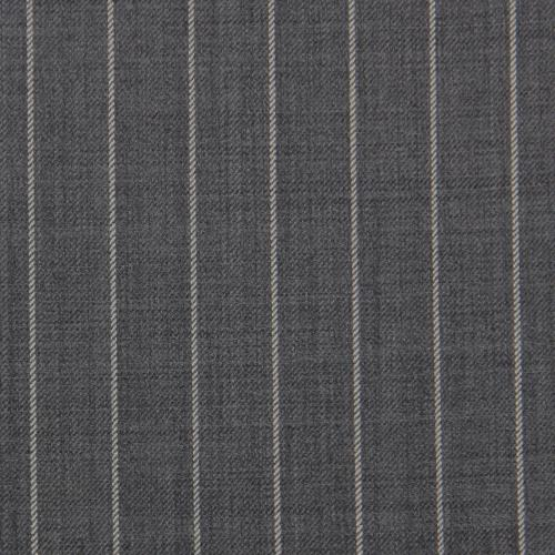 GREY PINSTRIPE WOOL SINGLE BREASTED SUIT