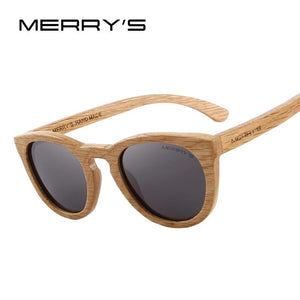 Sunglasses - Merrys Hand Made Wooden Womens Retro Polarized Sunglasses 100% Uv Protection - Sunglasses