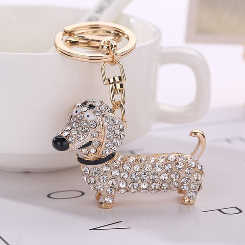 Key Ring - Lovely Crystal Dog Style Pendant Chain - Pet Products