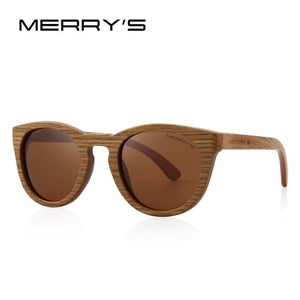 Sunglasses - Merrys Hand Made Wooden Womens Retro Polarized Sunglasses 100% Uv Protection - C05 Brown - Sunglasses