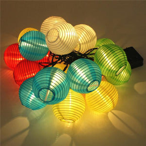 Festive Lights - Solar Led Beautiful Lantern (4 Colours ) - Warm White - Solar
