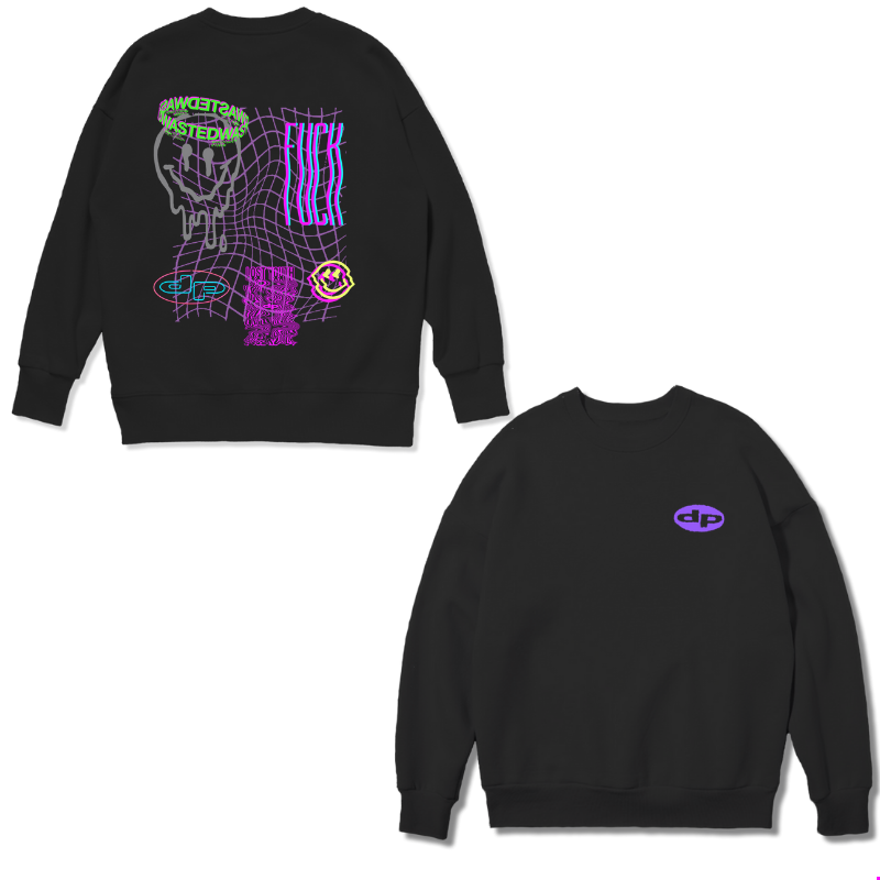 Rave Black Sweat Shirt