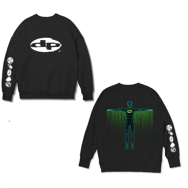 Digital Cape Black Sweat Shirt