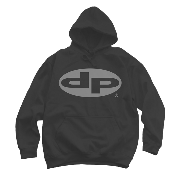 Classic Reflective Logo Hoodie - Black