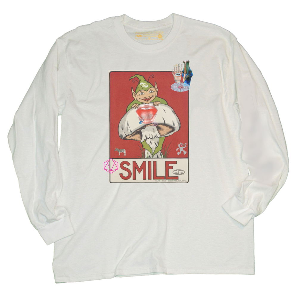 Smile Long Sleeve - White