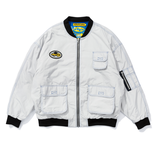 White MA1 Bomber Jacket