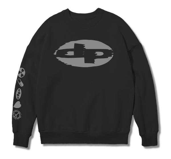 Reflective Black Sweat Shirt