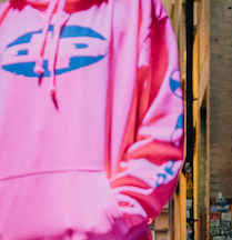 Reflective Fluro Pink Sweat Shirt