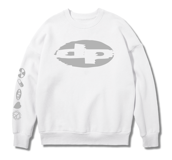 Reflective White Sweat Shirt