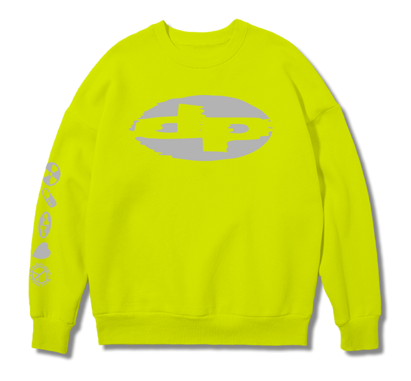 Reflective Fluro Yellow Sweat Shirt