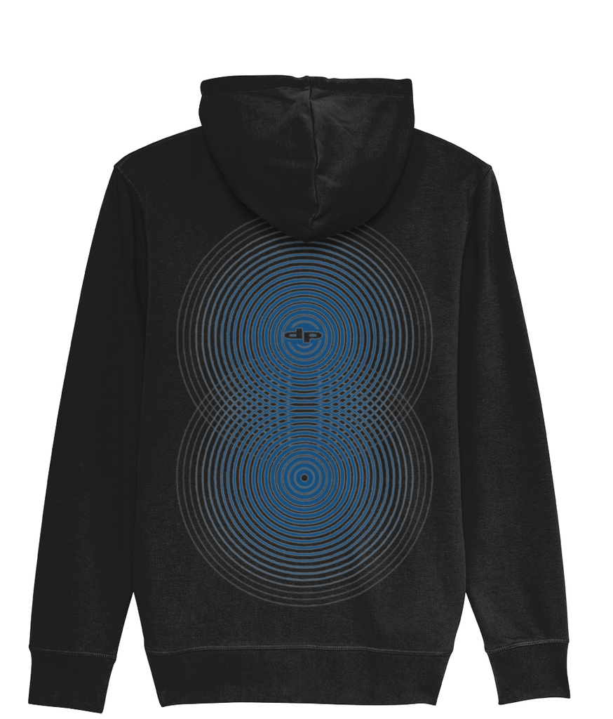 full zip maze front optical back print hoodie