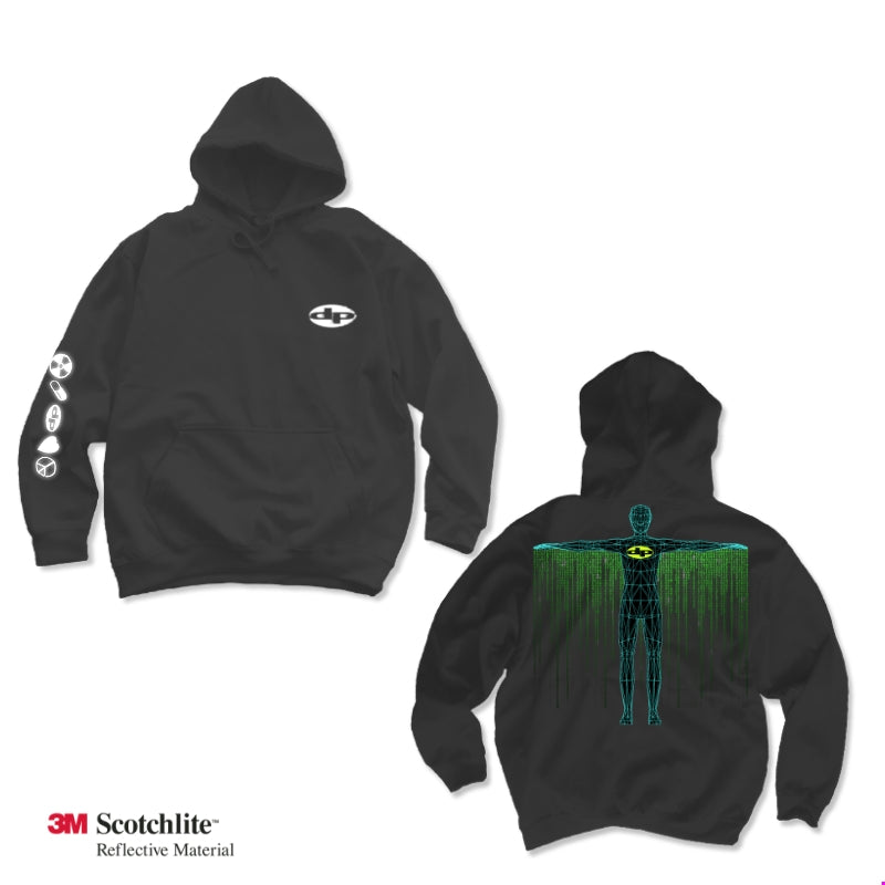 Digital Cape Black Hoodie