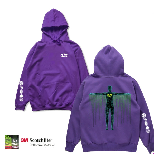 Purple Digital Cape Hoodie