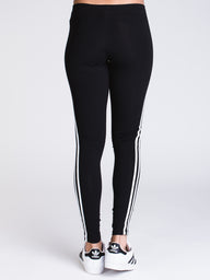 WOMENS 3 STRIPE TIGHT - BLACK