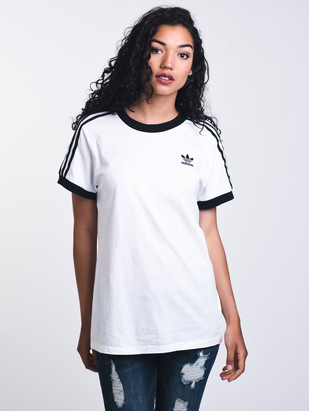WOMENS 3STRIPES SHORT SLEEVE T-SHIRT - WHITE