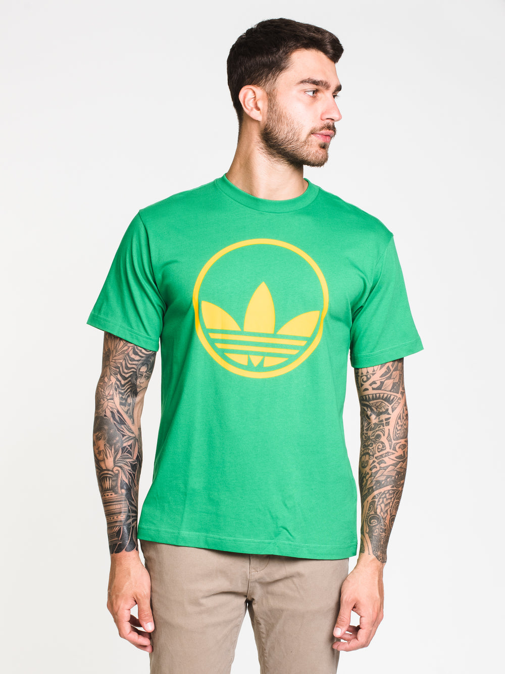 MENS CIRCLE TREFOIL SHORT SLEEVE T-SHIRT - GREEN