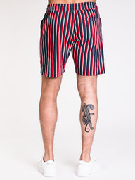 MENS UR EZ TWILL STRIPE SHORT - CLEARANCE