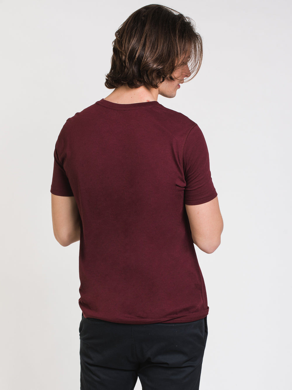 MENS VICTOR CREWNECK T - PORT