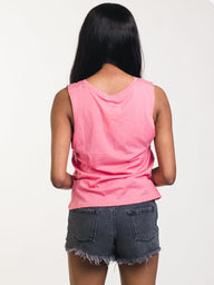 WOMENS FIND YOUR TRIBE TANK - PINK