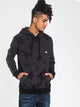 MENS WAVE WASHED PULLOVER HOODIE - BLACK