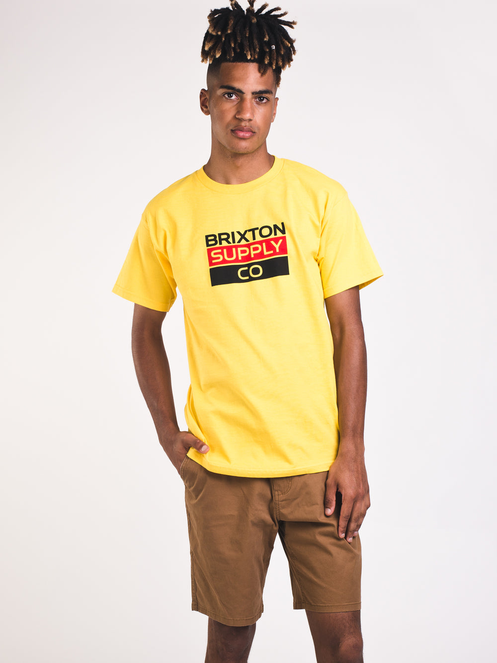 MENS MANTLE SHORT SLEEVE STANDARD T - GOLD - CLEARANCE