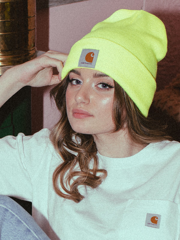 WATCH BEANIE - BRITE LIME