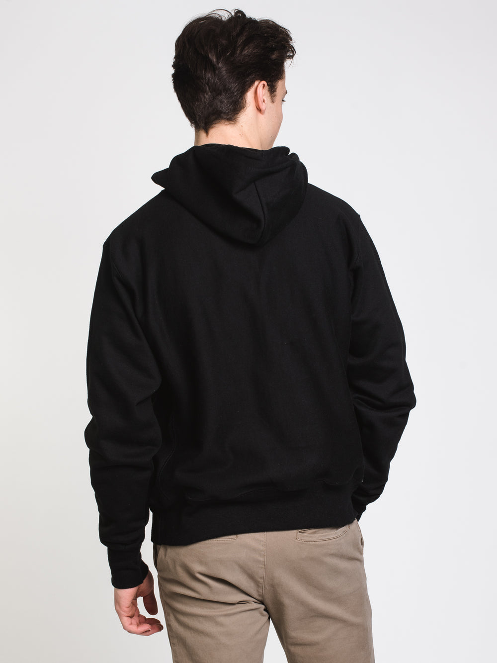 MENS RW EMBROIDERED SCRIPT PULLOVER HOODIE - BLACK