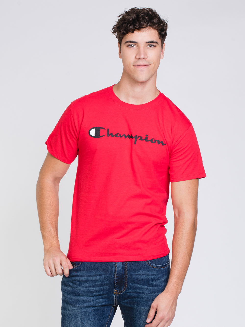MENS GRAPHIC SHORT SLEEVE T-SHIRT- SCARLET