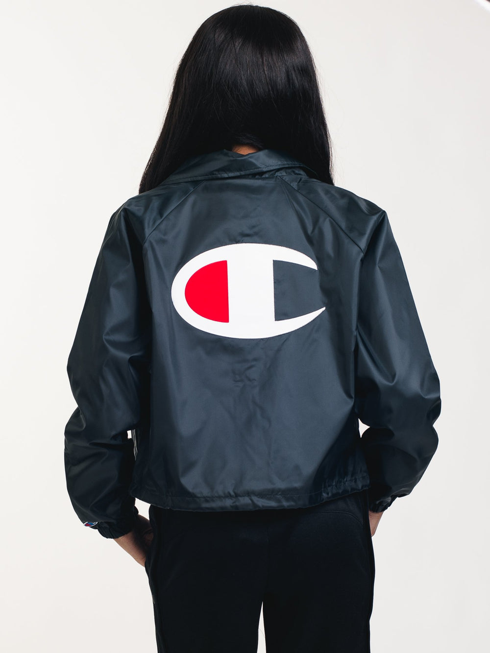 WOMENS COACHES JACKET - BLACK
