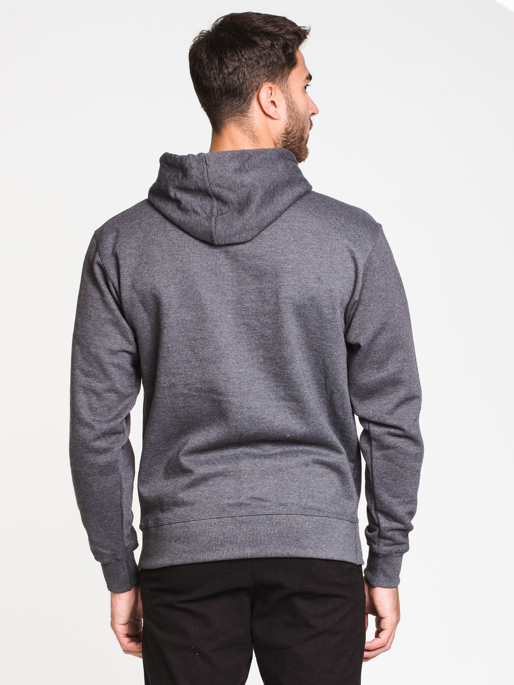 MENS COLOUR POP PULL OVER HOODIE - GRA