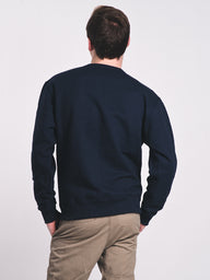 MENS POWERBLEND CREW FLEECE - NAVY