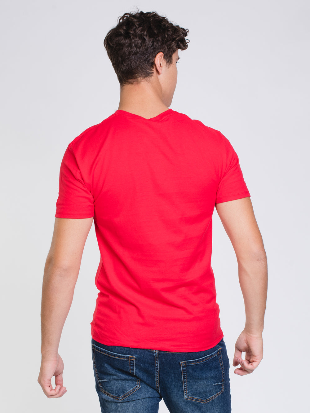 MENS COLOUR POP SHORT SLEEVE T-SHIRT - RED